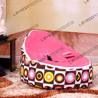 Wholesale round baby beanbags with ocean blueup cover baby beanbag baby chair baby seat bean bag covers only