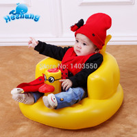 Wholesale New Baby inflatable portable chair seat children cartoon yellow duck