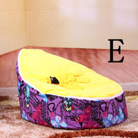 Wholesale Optional Colors Cute Kids Bean Bag Bed Sofa Children Soft Seat Baby Bag Chair Bean Bags for Children Fast Delivery Easy to Wash