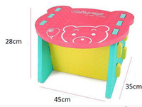 Wholesale EVA plastic chairs and tables Diy assembly The appearance of Little bear