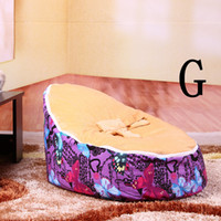 Wholesale Kids Bean Bag Bed Sofa Children Soft Seat Baby Sleeping Bed Children Furniture Convenient for Mother to Take Care of Lovely Baby