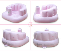 bathing chair - Plastic Baby Sofa Seat Inflatable Baby Chair For Years Children Bathing Eating Playing Free For Mother Portable Infant Chair