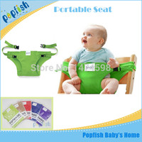 baby travel high chair - Travel Baby Kids Toddler Feeding Portable High Chair Seat Cover Sack Safety Belt Baby Seat
