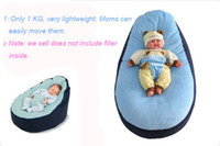 Wholesale Baby beanbag bed cotton cribs toddler bean bags seat sleep chair pink and blue bed color high quality do not include filler
