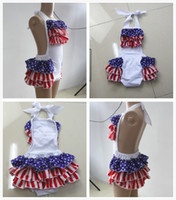 Wholesale ON SALE Patriotic Bubble Romper th Of July Cotton Baby Bubble Romper New Baby Kids Infant Toddler Suit