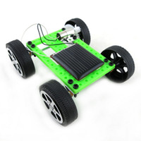 Wholesale pc Mini Solar Powered Toy DIY Car Kit Children Educational Gadget Hobby Funny Hot Selling