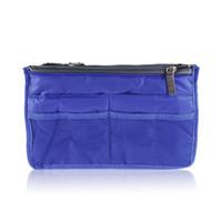 best inserts - Best Selling NYLON OXFORD Women double zipper Organiser Purse Insert large liner Bag Tidy Travel pouch
