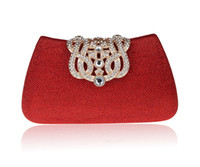 Wholesale Luxurious Crown Diamond Evening Bags New Rhinestone Crown Day Clutches Party Purse Wedding Pouch Lady s Shoulder Handbag