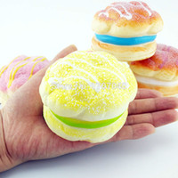 bags bread - Jumbo Puffs Squishy Cell phone Charms Soft Cream Bread Scent Bag Straps Hand Pillow Toys