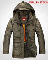 Wholesale wellensteyn down jacket Long section Thicken Men s coat brand down coat
