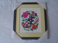 Wholesale Chinese Handicraft Scissor cut Birds And Flowers Folk Art Colourful Paper cut Picture Frame