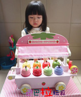 baby store japan - Baby Toy Japan Mother Garden Strawberry Ice Cream Cart Luxury Fruit Ice Cream Store Simulation Wooden Toys Birthday Gift