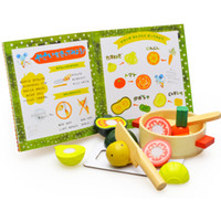 baby storybook - Baby Toys Gift Fruit and Vegetables Magnetic Wooden Toys Sets Educational Toys Birthday Christmas Gift Storybook Attach