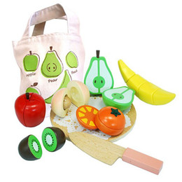 Wholesale-Vegetables magnetic honestly look wooden box bag wooden toys wooden fruit earnest music