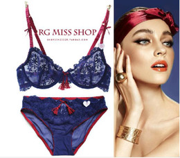 Wholesale-New hot Ultra thin Embroidery women bra set lace underwear sets,sexy transparent floral brassiere bra and panty set BS150