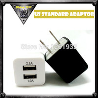 Wholesale piece US Standard Plug Dual USB Port Home Travel Wall Charger Adapter For Samsung Galaxy S4 iphone s ipad