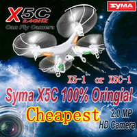 Wholesale RC Helicopter syma x5c Upgrade version syma x5c Axis GYRO Drone Quadcopter with MP HD Camera or Syma X5 without camera