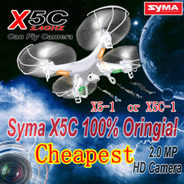 Wholesale-RC Helicopter syma x5c-1 (Upgrade version syma x5c) 6 Axis GYRO Drone Quadcopter with 2MP HD Camera or Syma X5 without camera