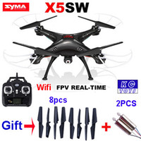 android rc helicopter camera - FPV WiFi Support IOS Android SYMA X5SW RC Drone With HD Camera G Axis RC Helicopter Quadcopter Real Time Video vs x5c X8W