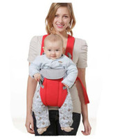 Wholesale month baby carriers infant cotton multi functional bag children hold straps belt pink red purple