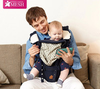 Wholesale New brand ergonomic baby carrier hipseat backpack Cotton D Mesh in1 Summer cool portabebe canguru baby sling mochila for m