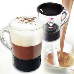 Wholesale newest ml Acrylic Automatic coffee mixing cups self stirring coffee mug creative milk and tea blender cup mixer on tv