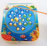 bath boards - Non magnetic Electric Rotating Fishing Game Toy Kids Children Table Board Game Bath Time Educational Toy Game