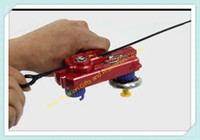 Wholesale Beyblade Double Tops New Launcher For Beyblade Metal Fusion Spinning Top Toys Red amp Blue amp Black Colors