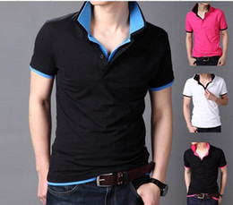 Wholesale HOT SALE Double collar summer menswear casual breathable Polo shirt men s solid brand new polos