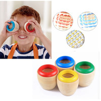 abs effect - Hot Sale ABS Wooden Bee eye Effect More Magic Kaleidoscope Explore Baby Kid Interesting Children Education Learning Puzzle Toy