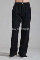 Wholesale Black Martial Arts Chinese Style Clothing tai chi Pants KungFu pants kung fu Costume taiji clothing