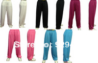 Wholesale unisex men amp women colors martial arts trousers morning exercise yoga kung fu tai chi pants
