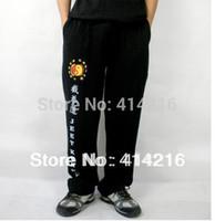 Cheap Wholesale-High elastic pure cotton training trousers suit wing chun jeet kune do sport pants rare