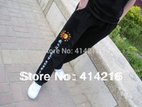 Cheap Wholesale-High elastic pure cotton training trousers suit wing chun jeet kune do sport pants rare