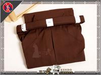 Wholesale Top Quality Brown Kendo Iaido Aikido Hakama Cotton Martial Arts Uniform Sportswear Kimono Dobok
