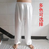 Wholesale Silk tai chi clothing tai chi pants hypertensiveperson pants shadowboxed martial arts pants martial arts clothes performance