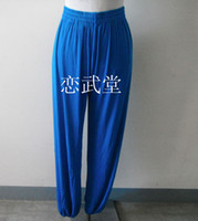 Wholesale martial arts wear tai chi costume comfortable breathe freely Athletic pants Ice silk pants men and women
