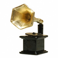 Wholesale Newest Dollhouse modern Miniature Metal Gramophone toys Furniture accessories dolls for Doll House