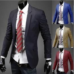 Wholesale- New Fasion Blazer Men Special Single Button Multicolor Classic Casual Men's Suit Jacket Cotton Mens Blazer M-XXL