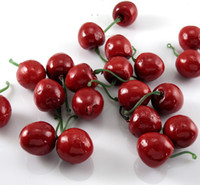 artificial fruit - Plastic Artificial Cherry Crafts Fruit Crafts House Party Kitchen Home Decor Wedding Decoration Artificial Flowers China