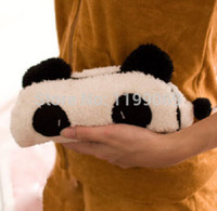 animal shaped sweets - FD1359 convenient Cute Sweet Tail Panda Soft Plush Cosmetic Bag Pouch Pen Zipper Case Bag