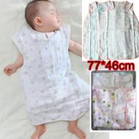 Cheap Wholesale-2015 Top Fashion Real Nishimatsuya Baby Detachable 6-layer Cotton Gauze Pajamas Sleeping Bag Infant Summer Blankets (3pcs lot)