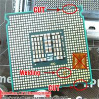 Wholesale XEON x5450 CPU GHz MB MHz LGA775 Processor Close to Core Quad q9650 works on LGA775 mainboard no need adapter