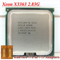 Wholesale Original Intel Xeon X3363 CPU Processor GHz LGA771 MB L2 Cache Quad Core server CPU with lga771 to Adapter