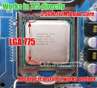 Wholesale Xeon L5420 GHz M Mhz Processor equal to LGA775 Core Quad Q6600 Q9300 CPU works on LGA775 mainboard no need adapter