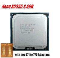 Wholesale free Adapter For Intel Xeon X5355 CPU GHz LGA771 MB L2 Cache Quad Core server CPU