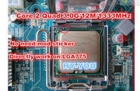 Wholesale For XEON E5450 GHz M Mhz CPU equal to LGA775 Core Quad Q9650 CPU works on LGA775 mainboard directly no need adapter