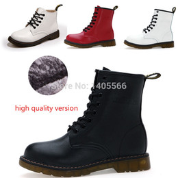 Wholesale High quality fashion Dr Leather Ankle Boots Autumn Winter Women Motorcycle Boots Martin Botas Femininas Snow Shoes Oxfords Woman