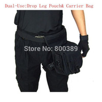 army pack - Multi Function SWAT Drop Leg Utility Waist Pouch Carrier Bag Army Tactical Pack In Black