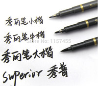 Wholesale Direct Manufactor soft brush head calligraphy pen art pen Big Middle Small three size one box
